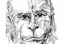 Hanuman - Ink / Drawings of Hanuman in ink Artwork by Petr Budil [ Pritam ]  www.hanuman.today