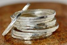 Silver Stacking Rings / I love silver stacking rings.  Or silver stack rings / silver stackable rings.  I make them in Fine .999 Pure Silver, and Sterling Silver.  I can add nano ceramic colors to them, as well as 24kt Gold Vermeil, and 22KT Rose Gold Vermeil. You can even add birthstones, and stamped messages to many of the designs.  You can view these rings here:  http://www.etsy.com/shop/Alaridesign/search?search_query=silver+stacking+rings
