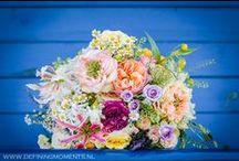 Bruidsboeket & bloemen decoraties - Wedding bouquets & flower decorations / Prachtige en kleurrijke bruidsboeketten en bloemendecoraties voor je bruiloft. Gorgeous and colourful wedding bouquets and flower decorations for your wedding.