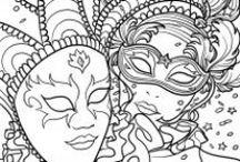 Coloriage du carnaval / Regroupe des beaux coloriage de Carnaval pour les adultes