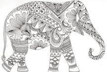 Coloriage d'éléphant