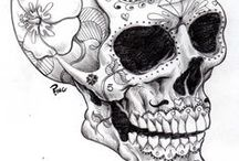 Coloriage de tête de mort