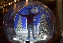 Giant Snow Globe / For some festive fun, we are hosting a giant snow globe in the town centre for two weeks from 23 November. You can climb in for a photograph, which will be printed and available to take away the same day!  These are just some of our Snow Globe photos - to view all of the photos, please visit our Facebook page www.facebook.com/makeitbmth