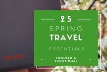 Spring Travel Essentials / It's spring and that means a break from winter weather and chance to get a little sun before summer begins. If you're lacking on ideas for what to pack for your trip look no farther than some of these great recommendations!