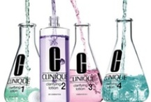 """Clinique  / """"3 mins, 3 products, twice-a-day for great skin""""."""