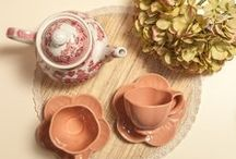 Tea with the Ladies / Let me pour you in a uniquely shaped ivory cup some Rooibos tea! Bite from the freshly baked cones. Do you feel the beauty in the taste? The view?  Our dearest well-behaved, beautiful Ladies! Check out our magic tea sets that would impress each acquaintance of yours!