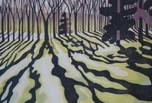 woodcuts , linocuts