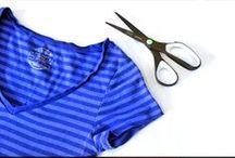 fashion DIY: T-shirt tutorial / Tシャツのリメイク アイデアと作り方