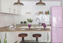 interior: Smeg fridge / イタリア製 Smegの冷蔵庫 キッチンコーディネート例