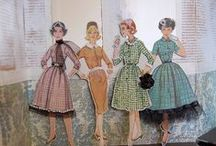 craft: Vintage dress Paper craft ideas / 50's 60's ソーイングパターンや着せ替えドレスのペーパークラフト 参考アイデア集