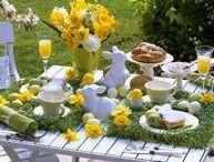 home: Spring Table Setting Decorations / 春のテーブルコーディネート センターピース、プレートセッッティング、イースターアレンジ