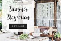 Summer Staycation / Give your sunroom or patio a Summer staycation makeover.
