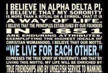 Alpha Delta Pi <> / by Alyssa Chaplin