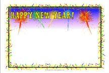 Happy New year ! / Διάφορες ιδέες , κατασκευές και εκτυπώσεις για την υποδοχή του νέου έτους !