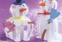 Snowman crafts / Διάφορες ιδέες και κατασκευές για χιονάνθρωπους.
