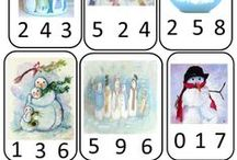 Winter maths / Διάφορες ιδέες για μαθηματικά παιχνίδια σχετικά με την θεματική ενότητα Χειμώνας.