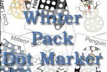 Winter printables / Διάφορα εκτυπώσιμα αρχεία σχετικά με τον Χειμώνα.