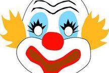 Clown crafts / Διάφορες ιδέες και κατασκευές με θέμα τον κλόουν. Μάσκες , καπέλα, φύλλα χρωματισμού και παιχνίδια σχετικά με τους κλόουν.