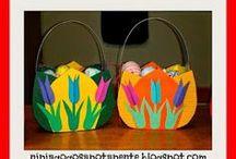 Easter Baskets crafts / Διάφορες ιδέες και κατασκευές για πασχαλινά καλάθια