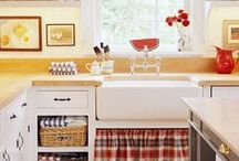 cottage kitchens / A board of ideas, inspiration and tips on decorating a colourful, modern cottage kitchen and dining room.