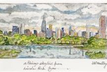 My Kind of Town, Chicago Is! / Our favorite etchings by local artist Denny O'Malley featuring scenes such as the Picasso in Daley Plaza, Millennium Park, The Chicago River, Wrigley Field and The Board of Trade.