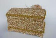 Caixas Vintage / Caixas de MDF forradas com tecidos e rendas. Caixas para lembrancinhas de casamento. Caixas  para decorar, presentear e organizar!