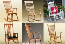 Rocking Chair -- A Seat for the Body and the Soul / Researchers have now confirmed* what we've all suspected--rocking is good for the body and soul.   Designed to delight the eyes as well as the body, our handcrafted, ergonomic rockers are second to none.  Rock to ease an aching back, snuggle a child, or relax after a stressful day.  http://ow.ly/PmyOn  *Studies have shown that gentle rocking soothes the brain and releases endorphins that relieve stress, improve mood, lesson pain and encourage healing.