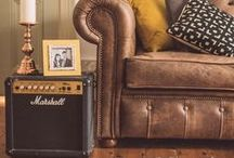 eclectic living room looks / Home decoration inspiration for creating an eclectic, vintage, rustic inspired living and sitting room