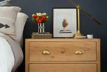 bachelor's pad bedroom ideas / A board with home decoration ideas for creating a manly bachelor's pad bedroom