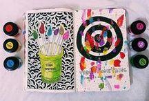 Wreck This Journal / Inspiratie, ideeën en benodigdheden voor pagina's in mijn Wreck This Journal.