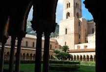 Byzantine art: Monreale, Cefalù. Sicily, Italy