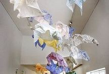 Hope by Kaarina Kaikkonen. Artist. Installations / Beautiful installations out of recycled textiles
