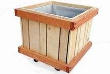 """M-Cube Rolling Planters, TREE PLANTERS / Commercial Quality """"rolling planter""""  Grow almost anything in our planter you desire, best for plants that need deep roots.  Trees require deep roots, planters with less than 18 inches of soil are just not sufficient to grow 15 gallon tree bulbs, ours are. Fully assembled our of cedar/fir, case hardened and epoxy / glass coated screws / bolts, tri-ply liner and drains. Designed, made and shipped from Ventura, California, USA  805.643.5902"""