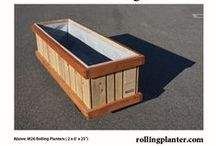 """M26 Rolling Planter """"Range Rover"""", Portable, Mobile Planters on Wheels / Commercial duty, sturdy """"rolling planter."""" Dimensions: 2 x 6' x 25.""""  Grow almost everything, great for plants that need deep roots, including trees!  Self watering and aquaponic options available, in same box.  Fully assembled (NOT A KIT).  Planters made from sustainably grown wood (cedar and fir), case hardened epoxy/ glass coated bolts/ screws ( NO NAILS, RODS, STAPLES ), heavy tri-ply pond liner, locking wheels and plumbed drains. Designed, handmade, shipped from Ventura, California, USA"""