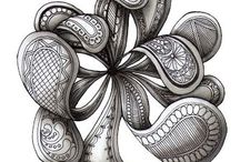 Zentangle / Zentangle, doodle, tangle patterns