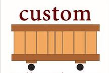 """CUSTOM- Rolling Planters / Custom Rolling Planters- Same commercial quality planters but designed to the sizes you need.   Minor to major adjustments.  Little to no cost adjustments to special set-ups fees.   We design and make our products from hand with experienced skilled craftman.  Other planter manufacturers outsource their material.  Many say they make planters, they box it or handle it, but...  Know your planter maker, as you should """"know your farmer.""""   Visit us, see our process, learn our history..."""