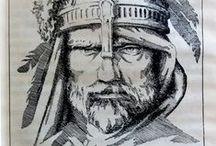 Ilustracje z książek: Saga o Nibelungach / Ilustracje z książek: Saga o Nibelungach Ilustracje Paweł Osiński 1989