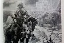 Ilustracje z książek: Król Artur i Rycerze Okrągłego Stołu / Ilustracje z książek: Król Artur i Rycerze Okrągłego Stołu Ilustracje Paweł Głodek