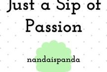 Just a Sip of Passion / All of the pins I created for my blog posts.