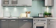 Cuisines / Distribain - salledebain-online.com - vous propose une sélection de cuisines tendances et fonctionnelles pour équiper votre maison ! Retrouvez des ensembles de meubles complets avec placards bas et éléments hauts à suspendre.