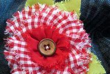 Textilvirágok - Fabric Flower / Selyemszalagból és textilből készült virágok elkészítései.