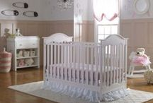 Baby Nursery for a Little Princess / Girls love Pink, why not add a pink crib to the nursery!