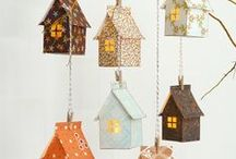 Crafty Houses / I love making small houses and these are some I want to try.