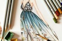 Illustration Boards / Illustrations & Drawings of Fashion Designs & Costumes
