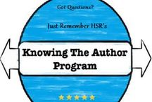 Author Calibrations / Here is a board when you can find out the authors (or publishers) that HSR has worked with. Look out for links to authors.  Some author may have links to a Q&A they did with HSR also so look for that