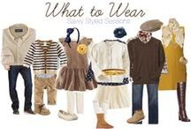 Photo Session Wardrobe Ideas / Clothing ideas for the whole family for that next photo session! (: