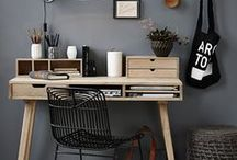 Home Office / Inspirational office workspaces- blend style and function to create a space in which you'll be glad to work.