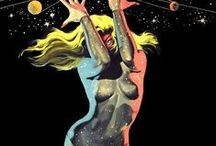 Good Ol' Sci-Fi Sex / Classic cheesecake imagery of ladies in space.