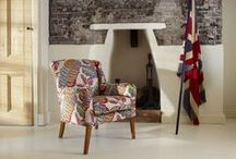 Fabrics by Sanderson. / With nearly 300 years combined history, Parker Knoll and Sanderson share a very British heritage.  We have worked with Sanderson to select a range of fabrics to complement any Parker Knoll accent piece across both the Classic and LifeStyle collections.