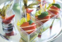 Amuse-bouche - stunning presentation / When it comes to catering, preparation and presentation are all-important. With this in mind, we have developed crystal-clear Duni Amuse-bouches®.